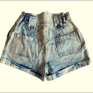 Paris haul vintage high waist light denim shorts